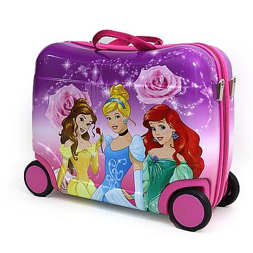 """Чемодан-каталка детский Принцессы Disney на 4 колесах """"PR""""L 16""""для девочки"""