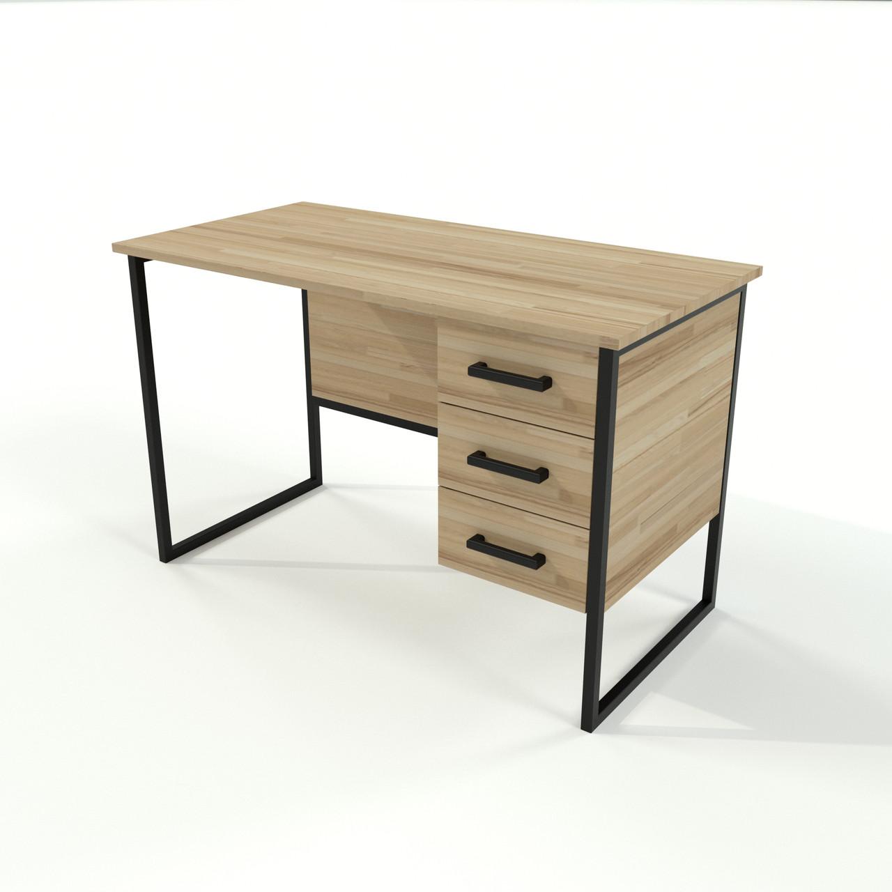 Письмовий стіл в стилі Loft для офісу з натурального дерева