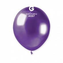 """Латексный шар хром фиолетовый 5"""" / 97 / 13см Shiny Purple"""