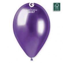 """Латексный шар хром фиолетовый 13"""" / 97 / 33см Shiny Purple"""