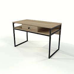 Стол с шухлядой в стиле лофт из натурального дерева