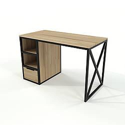 Стол в стиле лофт с шухлядой из натурального дерева