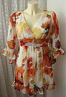 Туника женская платье нарядное легкое летнее бренд AX Paris р.44 5136