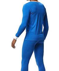 Мужская пижама термобелье гольф подштанники Addtexod Синий, фото 2
