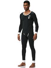 Чоловіча піжама термобілизна гольф підштаники Addtexod Чорний, фото 2
