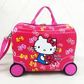 """Чемодан-каталка детский Hello Kitty на 4 колесах """"HK""""L 16""""для девочки"""