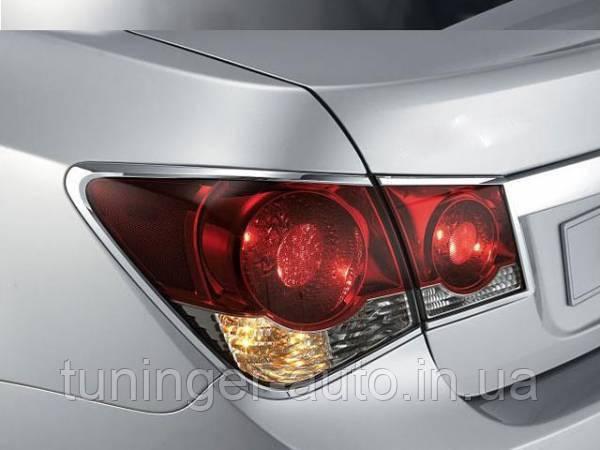 Хром накладки на стопы Chevrolet Cruze 2008-2014 (Autoclover)