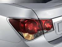 Хром накладки на стопы Chevrolet Cruze 2008-2014 (Autoclover), фото 1