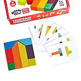 Головоломка ТАНГРАМ 8 элементов + карточки с заданиями, фото 3