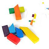 Головоломка ТАНГРАМ 8 элементов + карточки с заданиями, фото 2