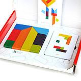 Головоломка ТАНГРАМ 8 элементов + карточки с заданиями, фото 8