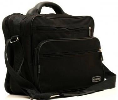 Стильная черная мужская сумка из полиэстера Wallaby 2651