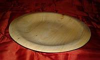 Тарелка из дерева с бортиком, фото 1
