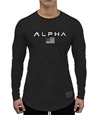 Черный лонгслив Alpha - №6680, фото 2