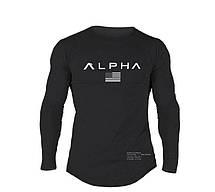 Чорний лонгслив Alpha - №6680, фото 3