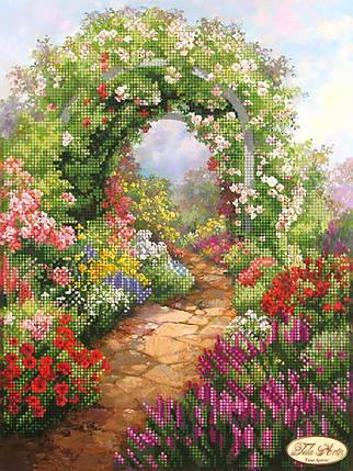 """Рисунок на ткани для вышивания бисером """"Сад в цвета"""", фото 2"""