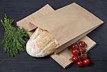 Бумажные крафт пакеты для хлеба, мяса, овощей 220*80*380 мм, упаковка 1000 шт, фото 4