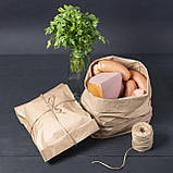 Бумажные крафт пакеты для хлеба, мяса, овощей 220*80*380 мм, упаковка 1000 шт, фото 6