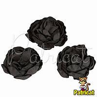 Цветы Пионы Черные из фоамирана (латекса) диаметр 7 см 1 шт