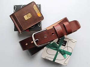 """Мужской подарочный набор """"Set"""" коричневый"""