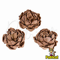 Цветы Пионы Кофейные из фоамирана (латекса) диаметр 7 см 1 шт