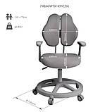Зростаючий комплект для школярів парта Cubby Ammi Grey + крісло FunDesk Vetta II Grey, фото 8