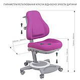 Дитячий комплект стіл-трансформер FunDesk Libro Grey + універсальне крісло FunDesk Bravo Purple, фото 9