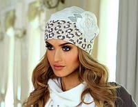 Стильная шапка, украшенная красивым цветком, от Kamea - JOANNA.