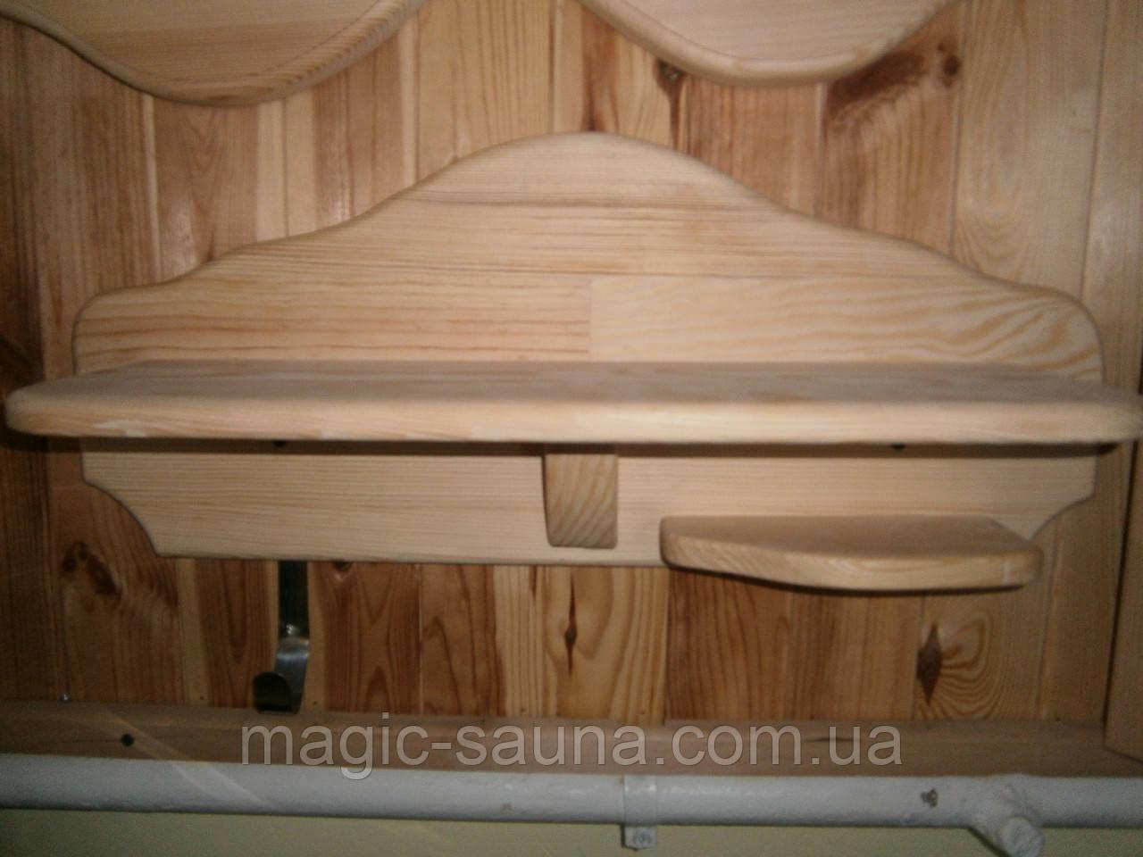 Полка деревянная для бани