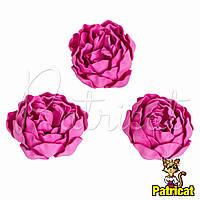 Цветы Пионы Розовые из фоамирана (латекса) диаметр 7 см 1 шт