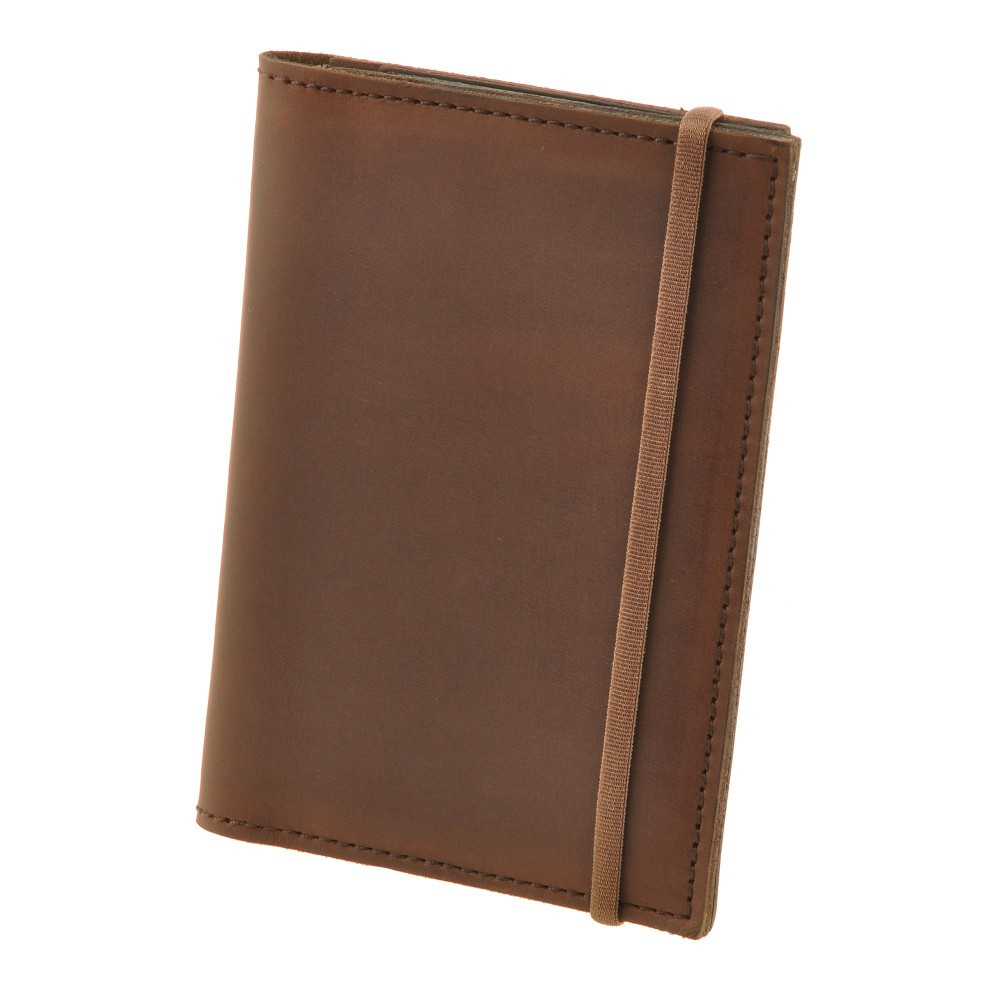 Обложка для паспорта кожаная коричневая (ручная работа)
