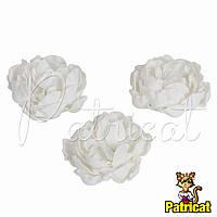 Цветы Пионы Белые из фоамирана (латекса) диаметр 7 см 1 шт