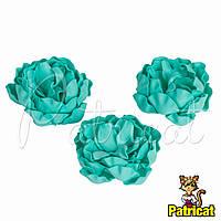 Цветы Пионы Аквамариновые из фоамирана (латекса) диаметр 7 см 1 шт