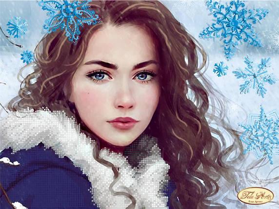 """Рисунок на ткани для вышивания бисером """"Зима"""", фото 2"""