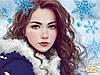 """Рисунок на ткани для вышивания бисером """"Зима"""""""