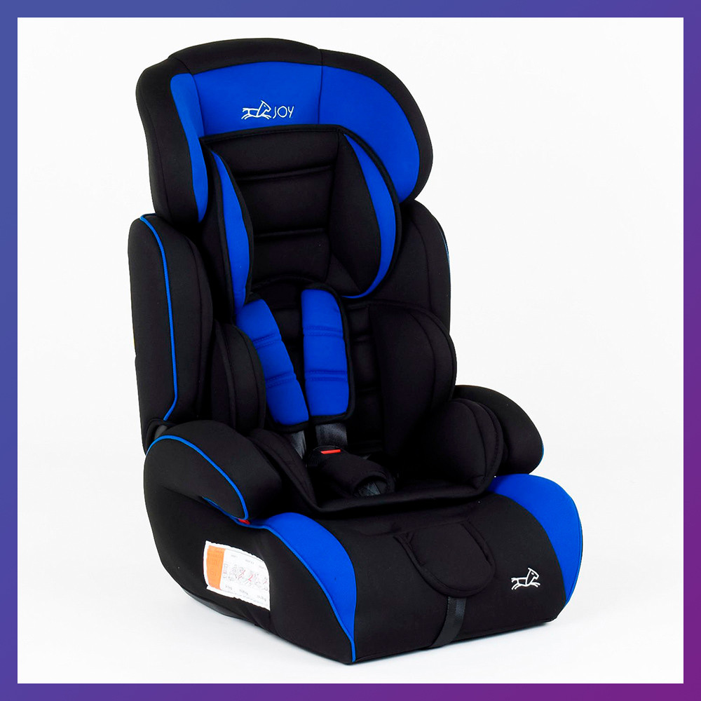 Детское автокресло от 9 месяцев до 12 лет группа 1-2-3 (9-36 кг) JOY 7190 синее