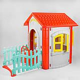 Детский игровой домик пластиковый Pilsan Magic House 06-194 серый с красным, фото 2