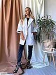 Жіноче стильне і елегантне кашемірове пальто вільного крою, рукав 3/4, 48-52, білий, сірий (Батал), фото 7