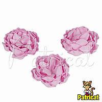 Цветы Пионы Светло-розовые из фоамирана (латекса) диаметр 7 см 1 шт