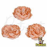 Цветы Пионы Персиковые из фоамирана (латекса) диаметр 7 см 1 шт