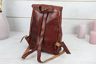 Жіночий шкіряний рюкзак Прага, натуральна шкіра італійський Краст колір коричневий, відтінок Вишня, фото 3