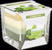 Свеча ароматизированная в стеклянном стакане, Bispol /Green Tea , 32 часов горения