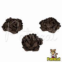 Цветы Пионы Шоколадные из фоамирана (латекса) диаметр 7 см 1 шт