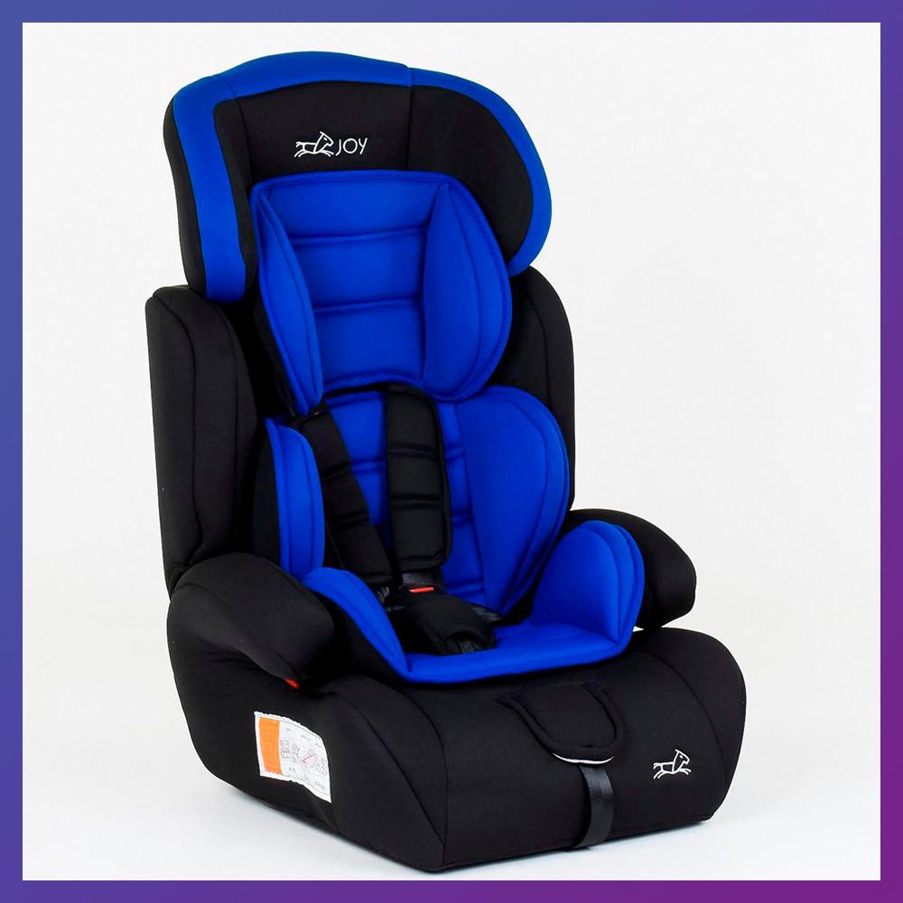 Детское автокресло от 9 месяцев до 12 лет группа 1-2-3 (9-36 кг) JOY 3270 синее