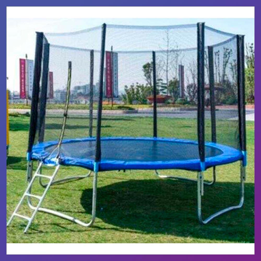 Батут каркасный для взрослых и детей для дома с защитной сеткой TK-Sport B-53906 диаметр 366 см
