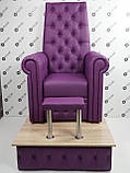 Педикюрне крісло трон Queen, фото 4