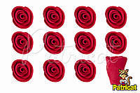 Бутоны Роз Красные из фоамирана (латекса) 1 см 10 шт/уп