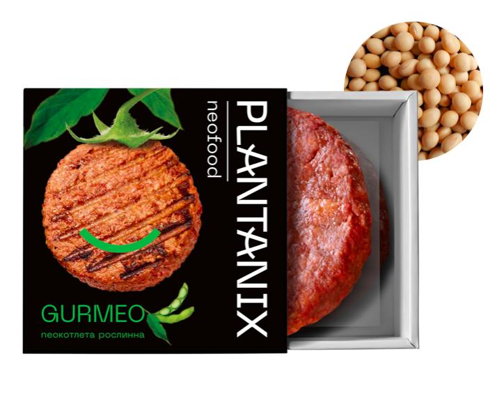 """Котлета рослинна для  бургерів із сої """"GURMEO"""" Plantanix 200 г"""