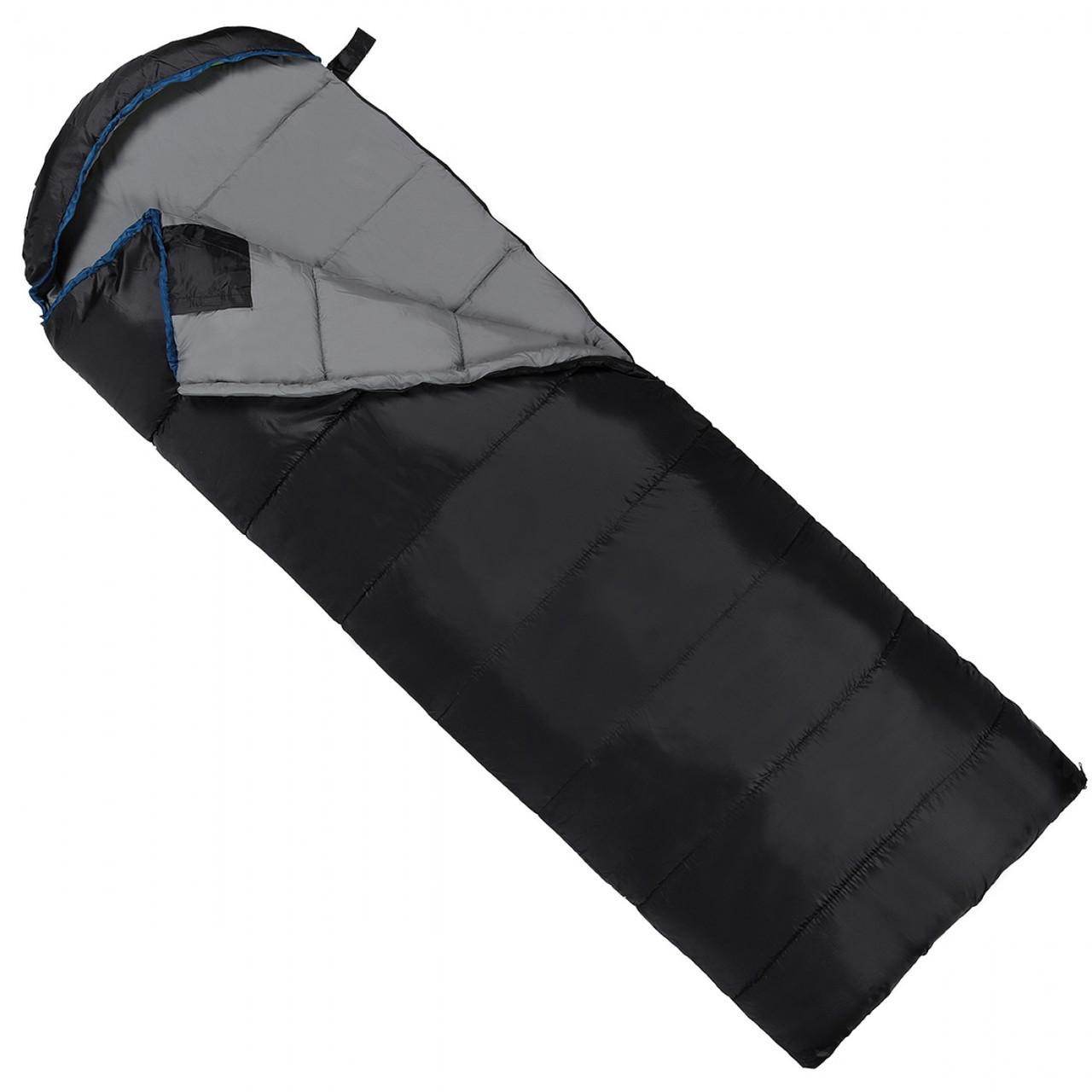 Спальный мешок (спальник) одеяло SportVida SV-CC0073 -3 ...+ 21°C L Black/Grey - Love&Life