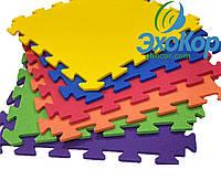Мягкий пол коврик-пазл Радуга Плетёнка Lanor 150x150*1cм (9 шт) Разноцветный, фото 1